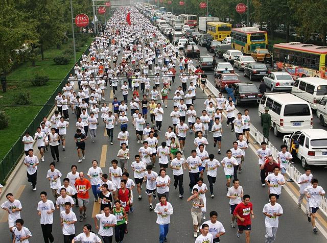 Bilene+m%E5+n%F8ye+seg+med+halve+gata+n%E5r+det+er+Beijing+Marathon.+%28Foto%3A+Arrang%F8ren%29