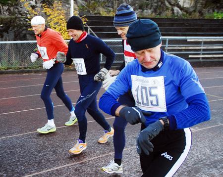 Her+starter+fire+av+maratonl%F8perne.+Vi+ser+Leif+Eriksen+%28fra+venstre%29%2C+B%E5rd+R%F8dde%2C+Inge+Asbj%F8rn+Haugen+og+Leif+Fe%F8y.
