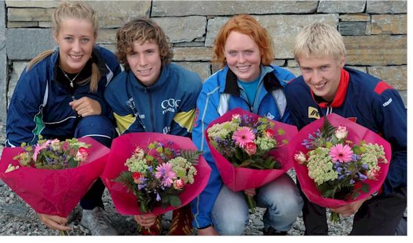 Fanny+Welle-Strand+Horn+%28f.v.%29%2C+Ulf+Forseth+Indgaard%2C+Betty+Ann+Bjerkreim+Nilsen+og+Olav+Lundanes+fra+mellomdistansen+i+juniorklassene+Foto%3A+Linn+Therese+Syvertsen%0D%0A
