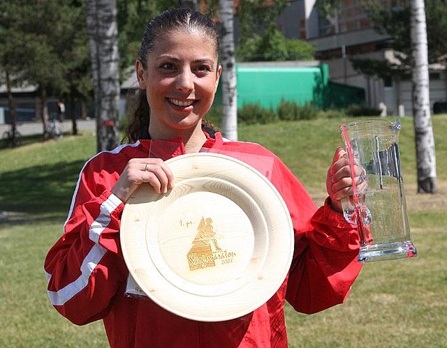 Det+ble+seier+i+maratondebuten+for+Helene+Stenersen+Lund.+Vidar-jentas+vinnertid+p%E5+3.14.48+er+den+tredje+beste+i+Skogsmaratons+15-%E5rige+historie.+